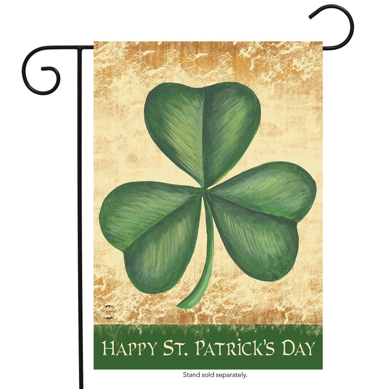 """Happy St. Patrick's Day Shamrock Garden Flag Irish Holiday 12.5"""" x 18"""""""