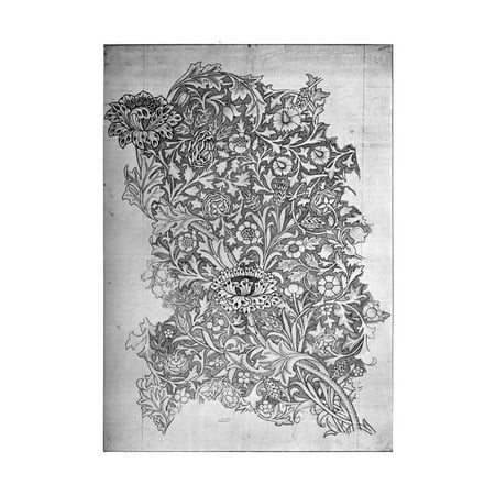 - Trent' Pattern Printed Linen, 1892 Print Wall Art By William Morris