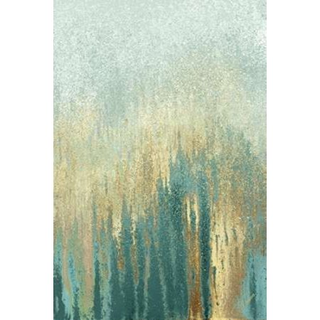Teal Golden Woods Rolled Canvas Art - Roberto Gonzalez (10 x 14)