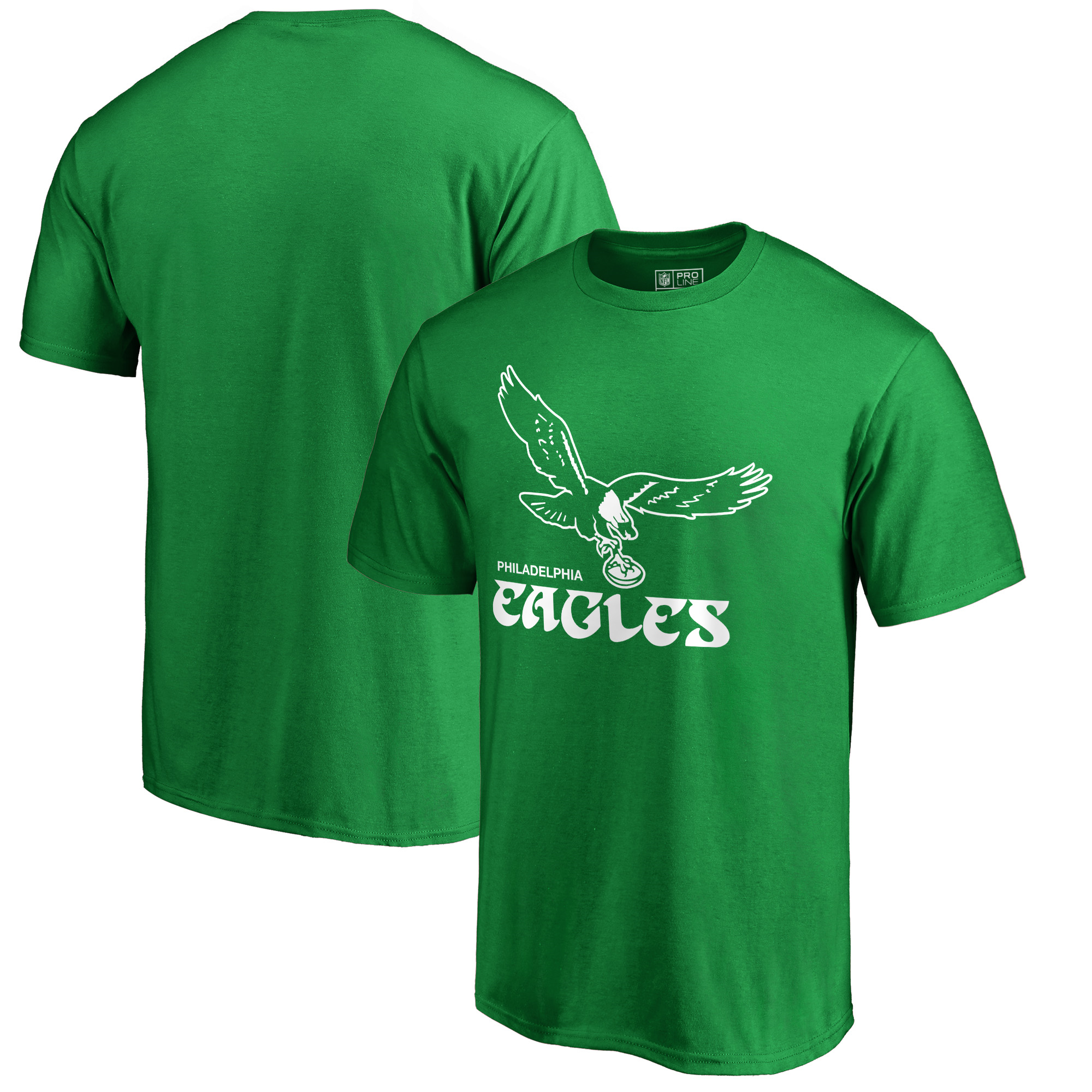 Philadelphia Eagles NFL Pro Line by Fanatics Branded Hometown Collection Logo T-Shirt - Kelly Green