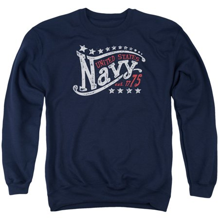 - Navy Est. 1775 United States Navy Stars Distressed Adult Crewneck Sweatshirt