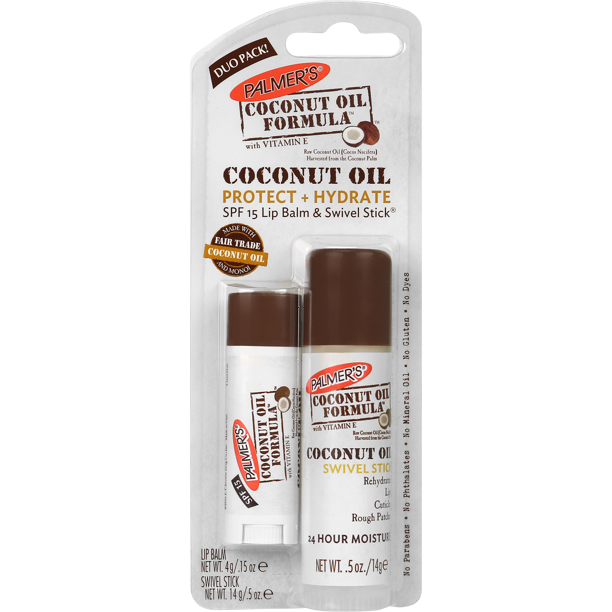 Palmer S Coconut Oil Formula Swivel Stick Lip Balm Duo 5 Oz 15 Oz Walmart Com Walmart Com
