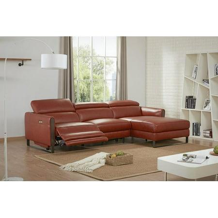 Prime Jm Nina Contemporary Premium Ochre Leather Motion Sectional Sofa Right Hand Ibusinesslaw Wood Chair Design Ideas Ibusinesslaworg