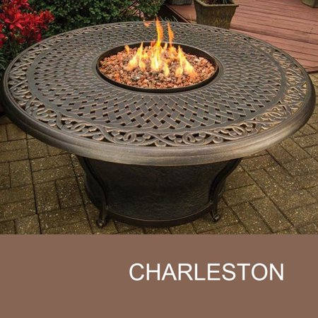 Agio Charleston 48 Inch Round Cast Top Gas Fire Pit