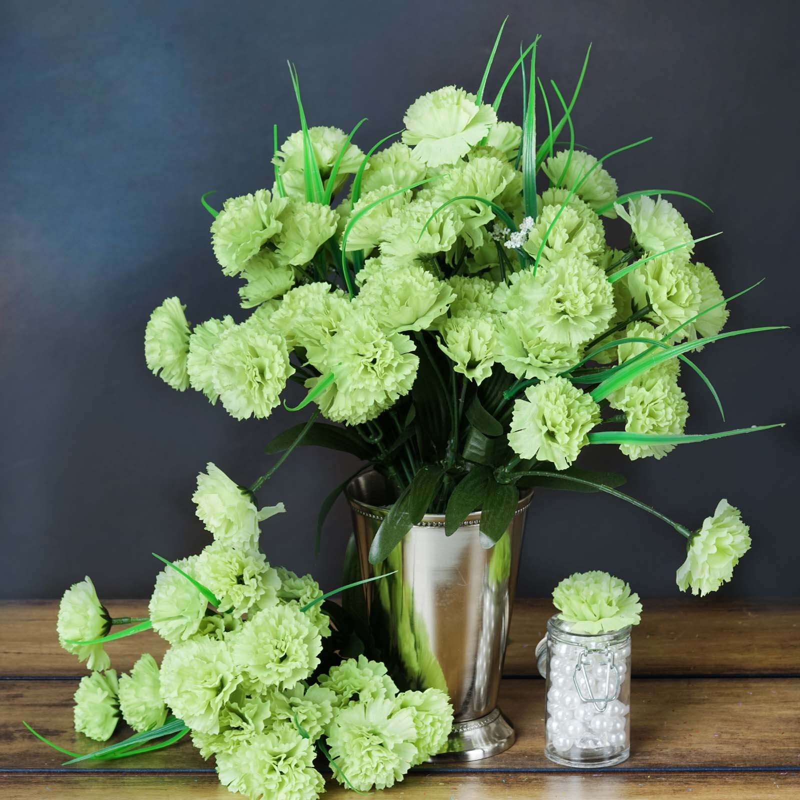 BalsaCircle 252 Mini Silk Carnations Flowers - DIY Home Wedding Party Artificial Bouquets Arrangements Centerpieces