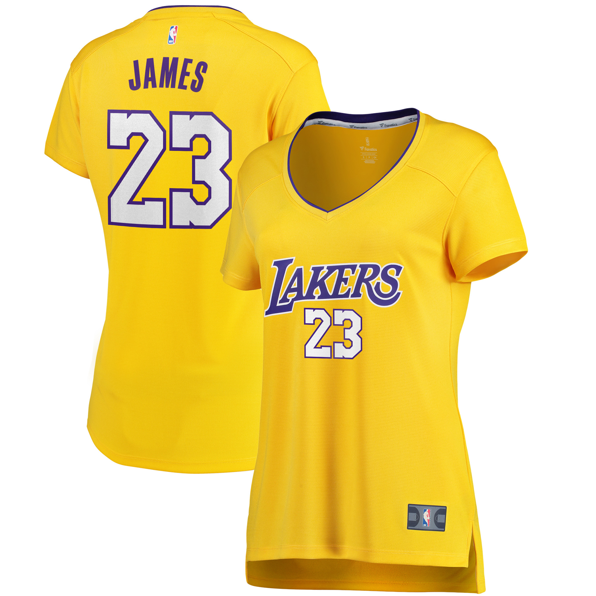 huge selection of d9a1d fc9c1 LeBron James Los Angeles Lakers Fanatics Branded Women's 2017/18 Fast Break  Replica Jersey Gold - Icon Edition
