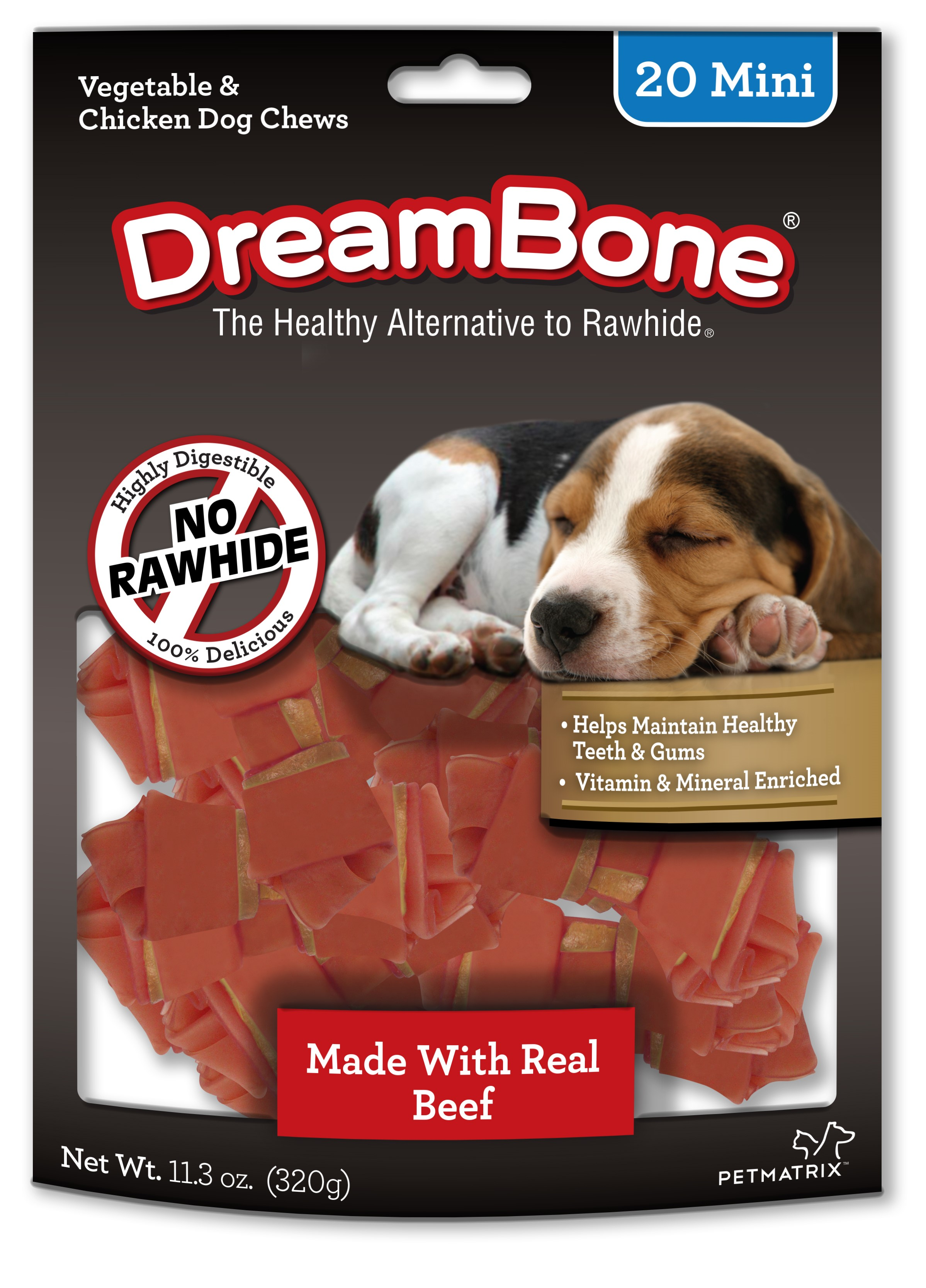 Dreambone Mini Small Breed Beef Chews Dog Treat, 20 Ct by PETMATRIX