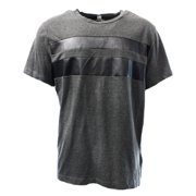 Kenneth Cole Reaction NEW Gray Mens Size Large L Faux-Leather Tee T-Shirt