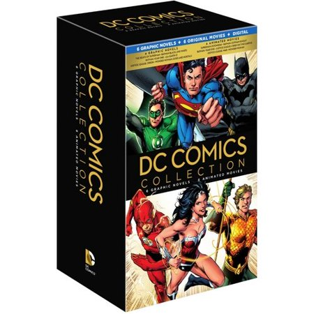 DC Comics Collection: 6 Graphic Novels & 6 Animated Movies (Blu-ray + DVD + Digital HD With UltraViolet)