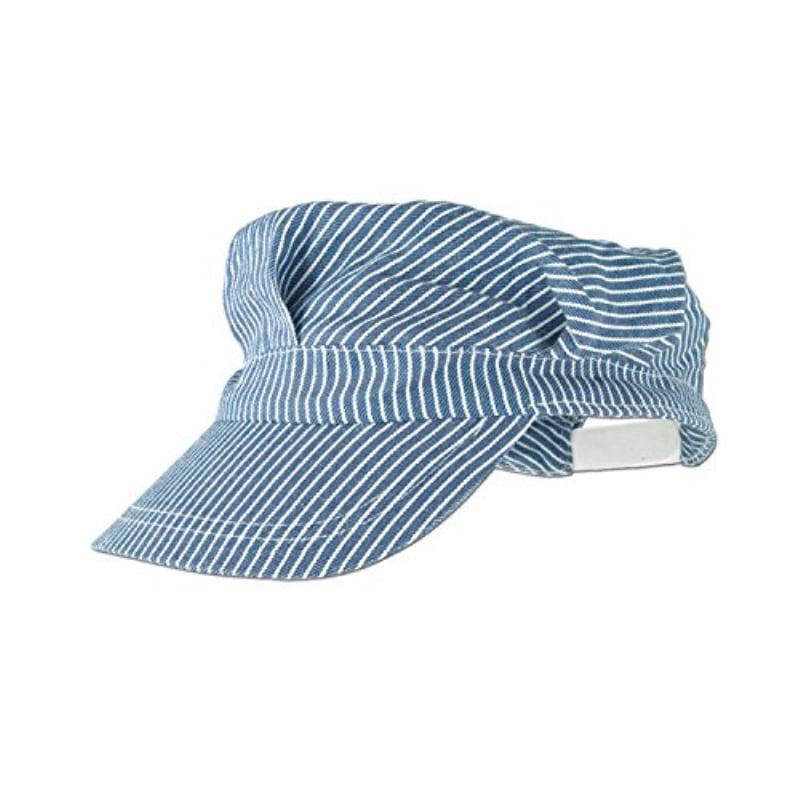 CTM/® Kids Cotton Blue Stripe Train Engineer Cap