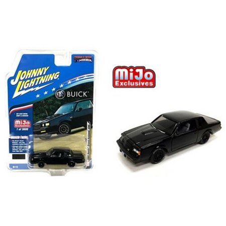 - 1987 Buick Grand National GNX (Black) 1/64 Scale Diecast Model Car by Johnny Lightning JLCP7178