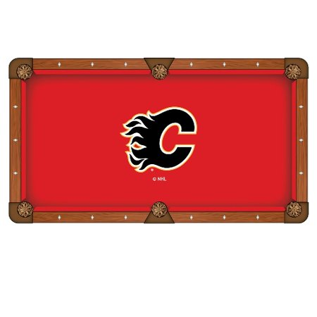 NHL 8' Pool Tablecloth by Holland Bar Stool Calgary Flames by