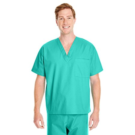 Crimson Scrubs Top - Harriton Adult Restore 4.9 oz. Scrub Top