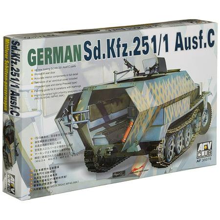SdKfz 251/1 Ausf C Halftrack 1-35, Plastic Model Kit By AFV Club Ship from US