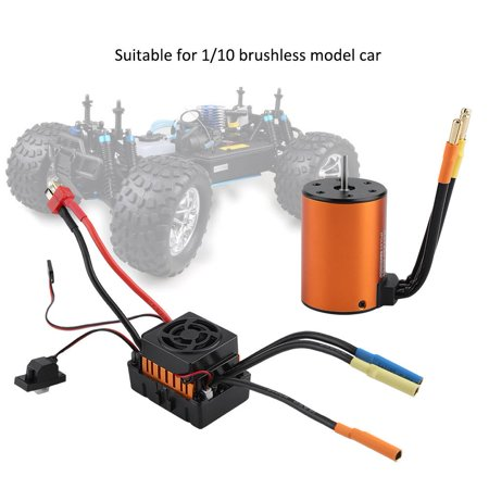 Scale Brushless Motor - Yosoo Waterproof Brushless Motor Set 3650 3500KV Motor with 60A ESC for 1/10 Scale RC Car, Brushless Motor ESC, RC Motor ESC