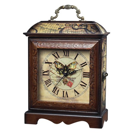 Elk Lighting Butterfly Carriage Clock