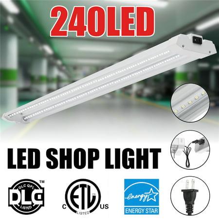 48Inch Shop Light Hanging Lamp 40W 240LED Flush Mount High Bay Light Indoor Lighting Fixture Office Home Warehouse Garage Commercial Wall Ceiling Lamp 110V/240V 5000K 2835 SMD (Buy Warehouse)
