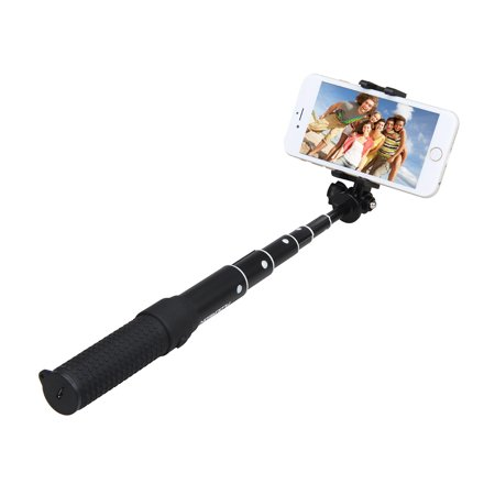 floureon all in one fodlable bluetooth extendable self portrait selfie handheld stick monopod. Black Bedroom Furniture Sets. Home Design Ideas