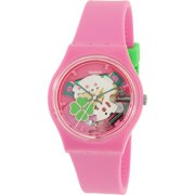 Swatch Girl's Gent GP147 Pink Silicone Swiss Quartz Watch