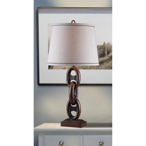Kenroy Home Link Table Lamp, Mahogany Bronze