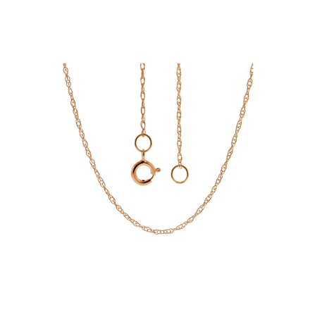 14K Solid Rose Gold  Rope Chain 18 inches long Width