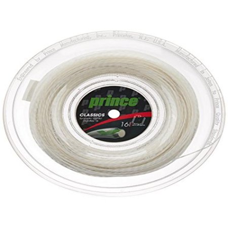 Prince Synthetic Gut with Duraflex 16g White Tennis String Reel (Gut 16g Strings)