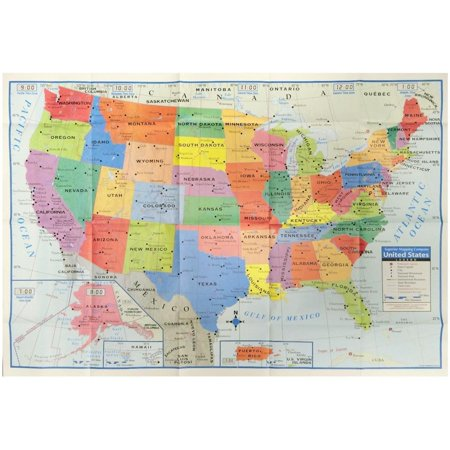 United States Wall Map USA Poster, Home/School/Office, Great way to learn the states By Kappa (Learning Posters)