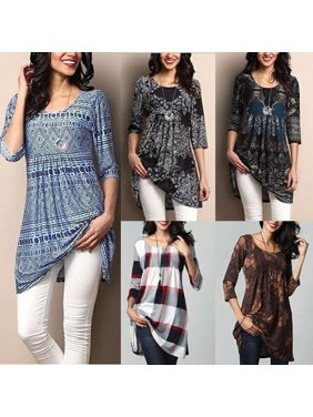 636ad87a1 Product Image Fashion Women's Loose Long Sleeve Cotton Casual Blouse Shirt  Tunic Tops Blouse