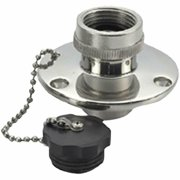 """Water Inlet, 316 Stainless Steel Sports """" Outdoors Heads Boat Plumbing Boating"""