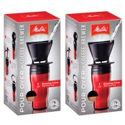 Melitta  '64014' Ready Set Joe Red Pour-over Coffee Brewer Travel Mug