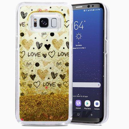 Samsung Galaxy S8 / S8 Plus Case, ZV Glitter Star Design w/ Free Flowing