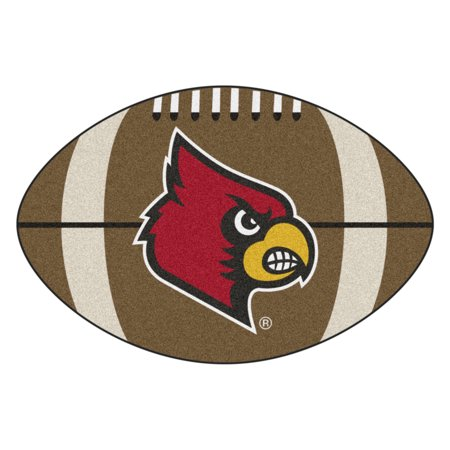 University Of Louisville Cardinal Football - NCAA University of Louisville Cardinals Football Shaped Mat Area Rug