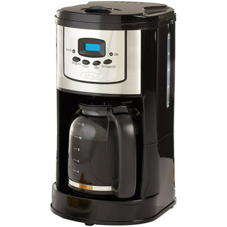bella coffee maker 13755 12 cup programmable coffee maker polished 31402