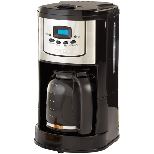 BELLA 13755 12-Cup Programmable Coffee Maker, Polished