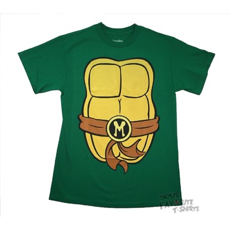 Michelangelo Costume TMNT Adult T-Shirt - Tmnt Shirts For Adults