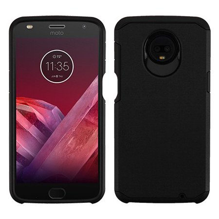 Motorola Moto Z3, Z3 Play - Phone Case Protective Shockproof Hybrid Rubber Rugged Cover Black Slim Case for Motorola Moto Z3, Z3