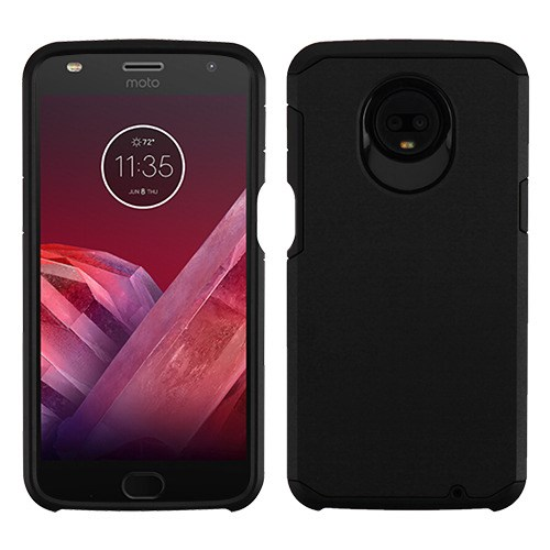 Motorola Moto Z3, Z3 Play - Phone Case Protective Shockproof Hybrid Rubber Rugged Cover Black Slim Case for Motorola Moto Z3, Z3 Play