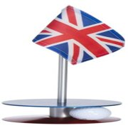 Anne Stone Golf Putt-A-Round UK Flag 1 Putting Aid, Blue/Red, Small