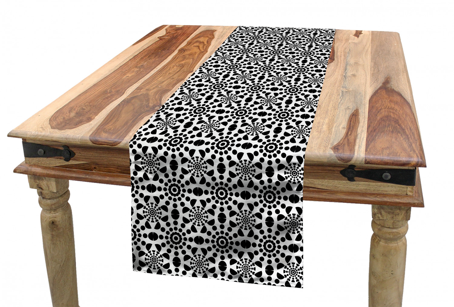 Picture of: Abstract Table Runner Contemporary Design Of Half Circles And Polka Dots Forming Round Dining Room Kitchen Rectangular Runner 3 Sizes By Ambesonne Walmart Com Walmart Com