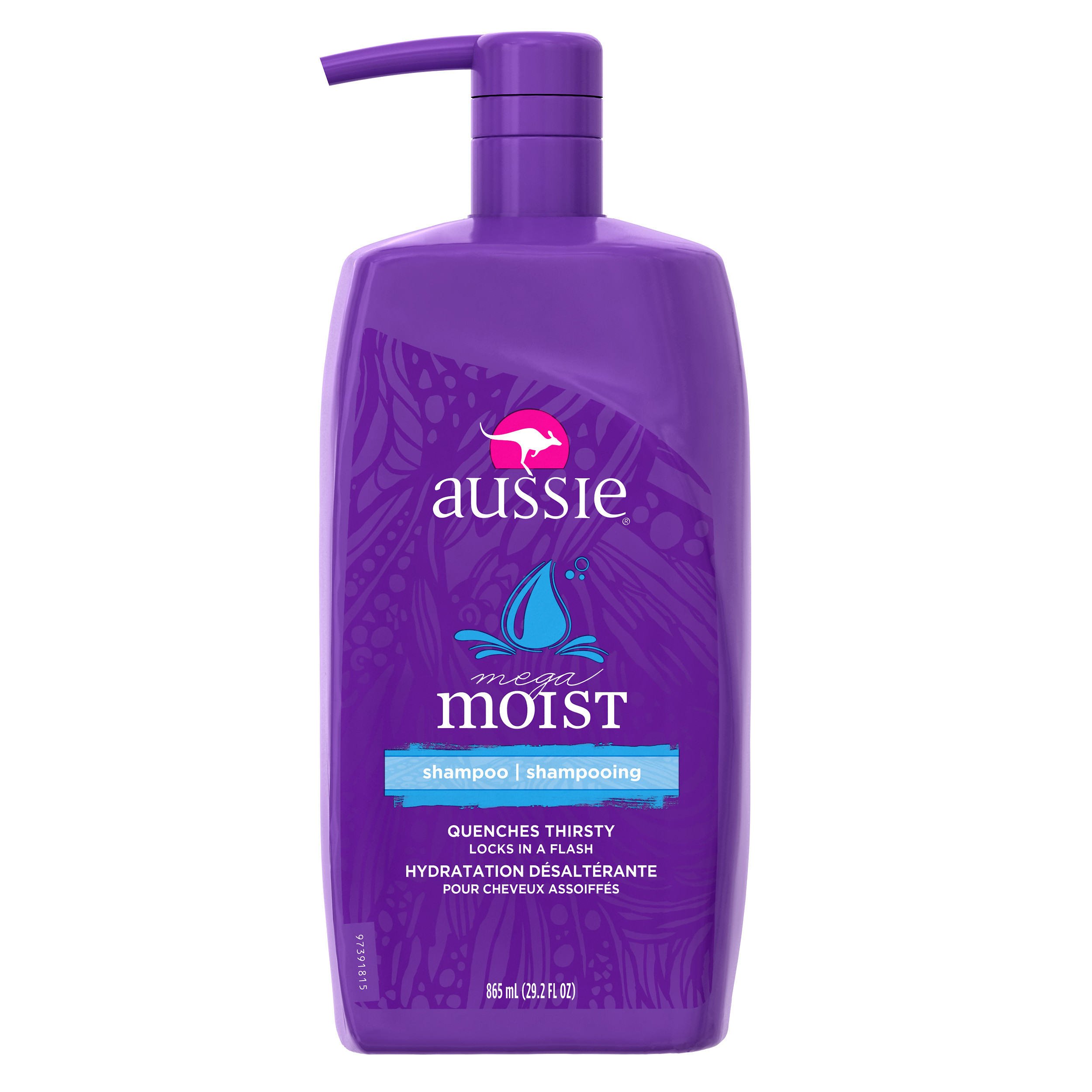 Aussie Mega Moist Shampoo 29.2 fl oz with Pump