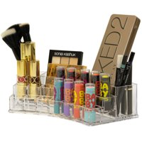 Acrylic Cosmetic Makeup Brushes Organizer Bathroom Layered (Large)