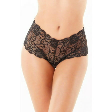 Yandy Crotchless Lace Boyshort Panty