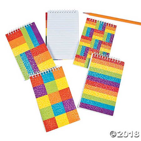 Spiral Rainbow Glitter Note Pads