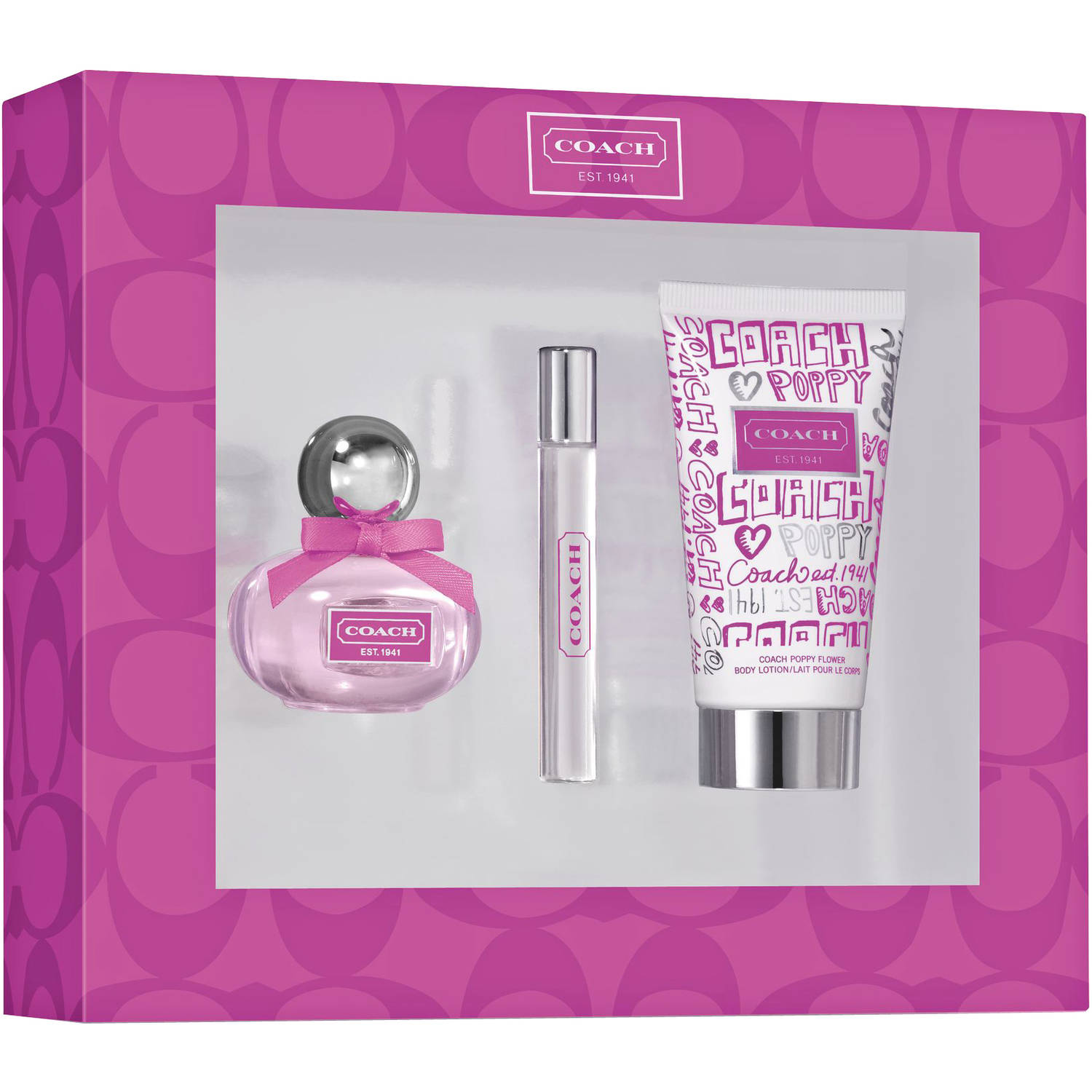 Coach Poppy Flower for Women Fragrance Gift Set, 3 pc