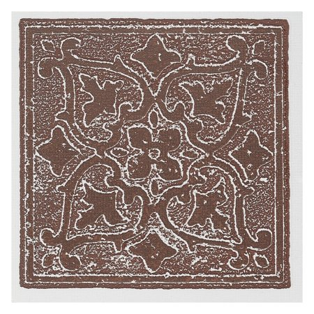 Traditional Elegance Madison Accent Burgundy 4x4 Self Adhesive Vinyl W