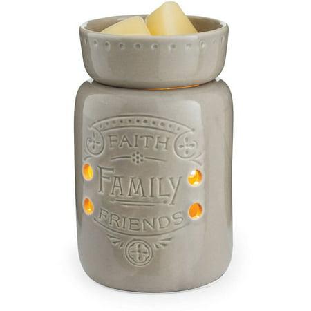 Faith, Family, Friends Midsized Illumination Small Fragrance Warmer by Candle Warmers Etc.