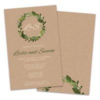 Personalized Foliage Wedding Shower Invitation