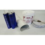 Superflex RV Rubber Roof Kit 9.5' X 25' Complete Kit