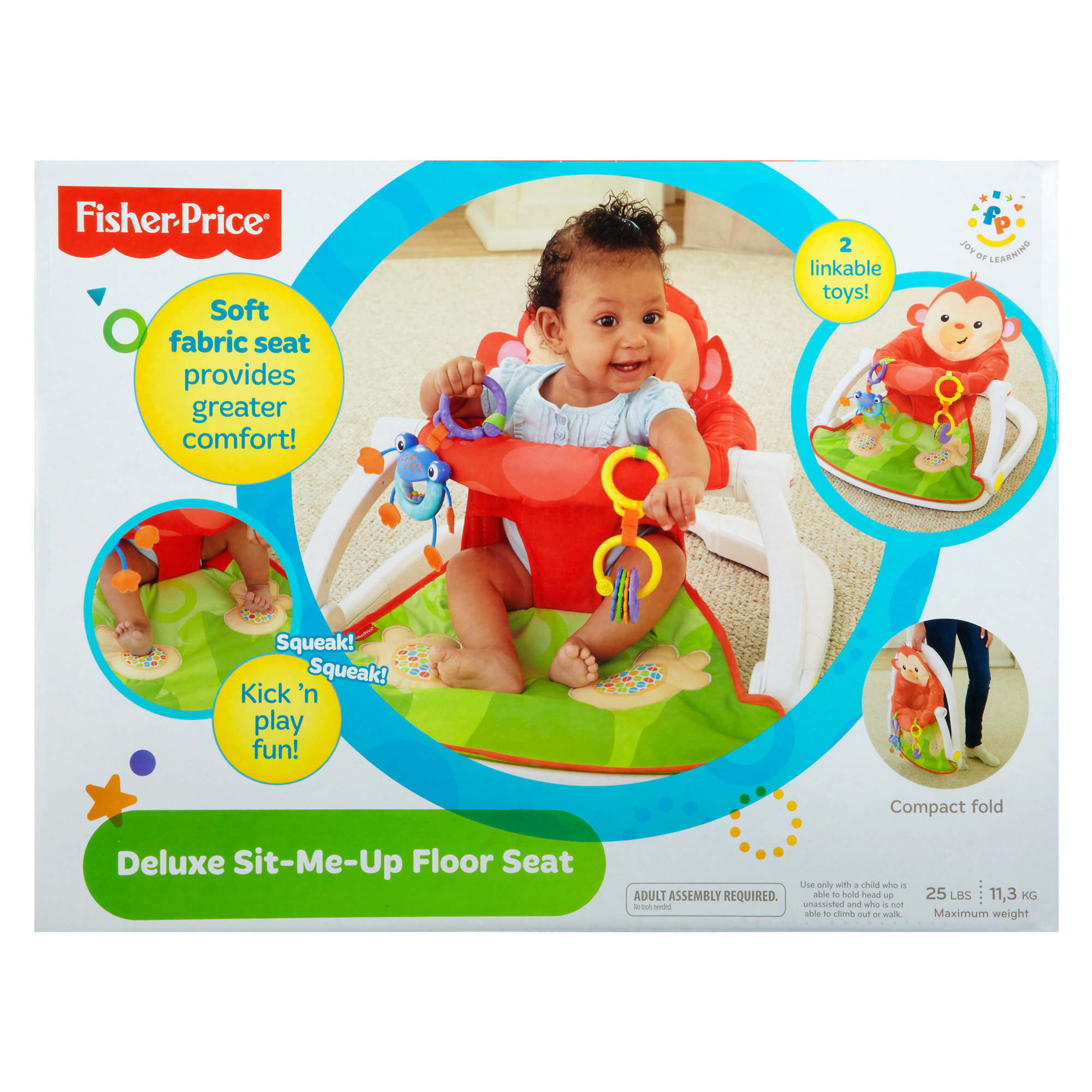 Fisher Price Deluxe Sit Me Up Floor Seat Walmart