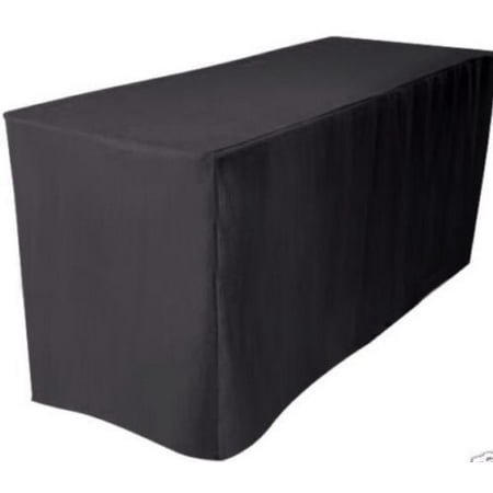 Fitted Table Covers (5' ft. Fitted Polyester Table Cover Wedding Banquet Event Tablecloth)
